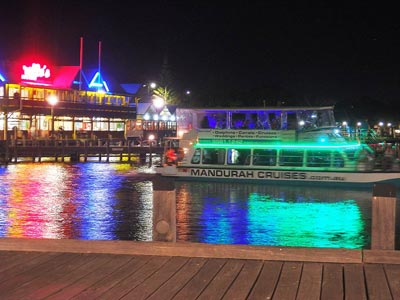 Mandurah's famous Canal Christmas lights can best be seen by boat